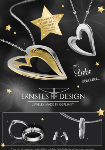 Ernstes Design Schmuck Flyer 2020